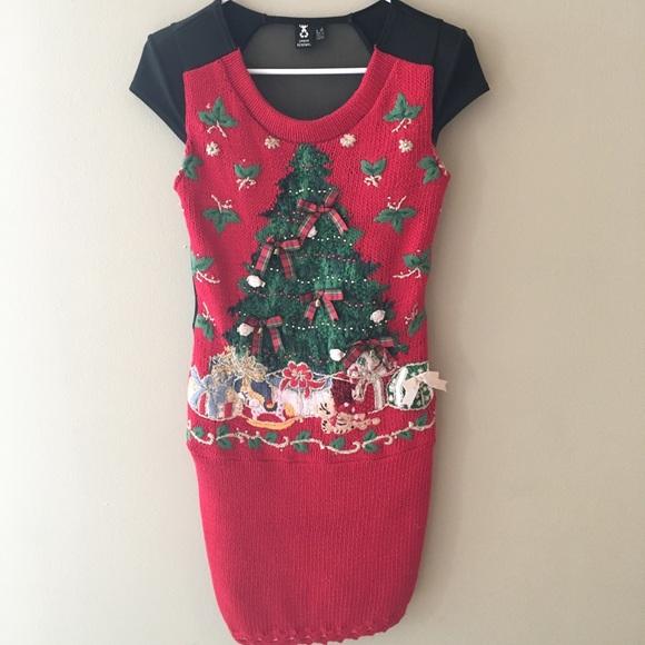 37eb2cbd15f Urban Renewal Ugly Christmas Sweater Dress. M 5b8619241070ee1511b2eb41
